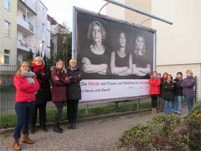 Plakataktion in Herne